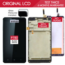 TEST ONE BY ONE 1280x720 Display For LENOVO P780 LCD with Touch Screen Digitizer Assembly Replacement