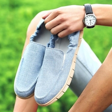New Fashion Spring Summer Men Shoes Slip-on  Casual Breathable Soft Male Footwear Men Canvas Flat Men Zapatos Hombre PP155