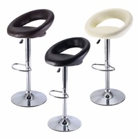 1 PC PU Leather Adjustable Swivel Bar Stool Hydraulic Chair Barstools 3 Color HW51715