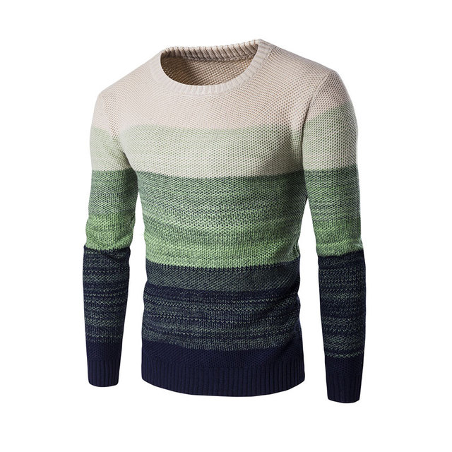 Outono Marca de Moda Casual Camisola Dos Homens O-pescoço Patchwork Magro Knitting Camisolas Dos Homens & Pullovers Sueter Hombre Pullover Malhas