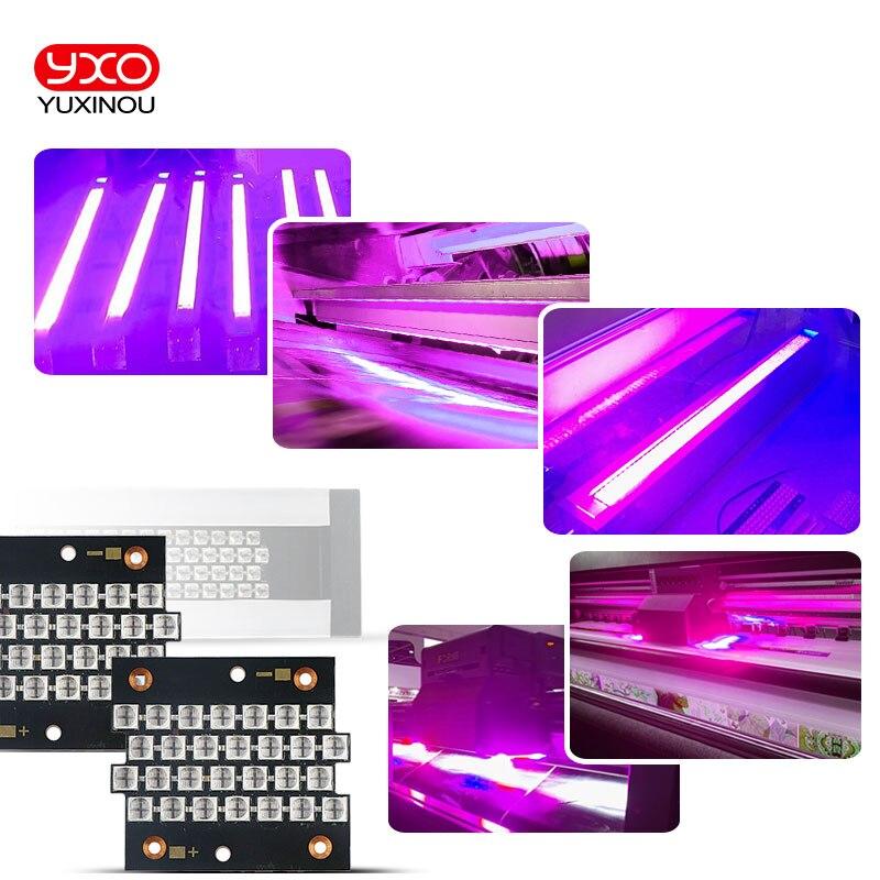 1 pcs 250 w 500 w 1000 w 200 w UV 395nm 405nm Haute Puissance LED Violet Cuivre PCB pour pour la lumière uv, imprimante à plat uv colle durcissant la lumière