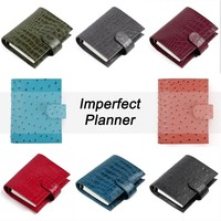 Limited Imperfect Genuine Leather Rings Notebook A7 Size Binder Agenda Organizer Diary Journal Sketchbook Planner Big Pocket