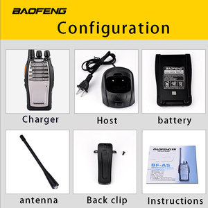 Image 4 - (2 PCS)BaoFeng UHF Walkie Talkie BF A5 16CH VOX+Scrambler Function Free Shipping Two Way Radio