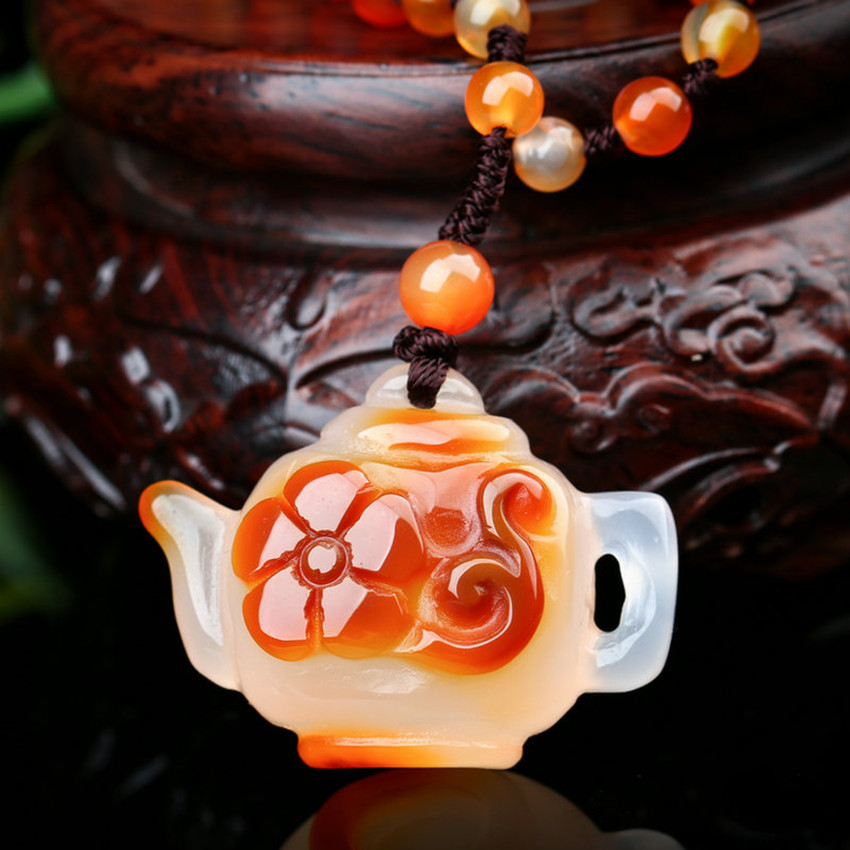 Exquisite jewelry fashion teapot pendant necklace luck blessing jewelry lovers jewelry wholesale./4