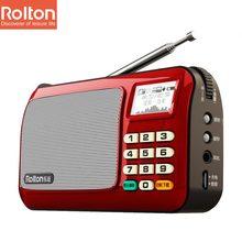 Rolton W505 Mini Caja Del Altavoz Portátil Tarjeta DEL TF MP3 WAM WAV Grabar Sonidos FM Auriculares de Radio Linterna de Luz LED