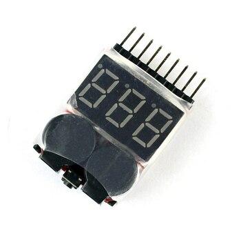 F00872 Lipo pil voltmetre volt metre göstergesi Checker çift hoparlör 1 S-8 S alçak gerilim sesli Alarm 2in1 2S 3S 4S 8S