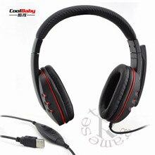 Handsfree Mic Couro Fone De Ouvido Micphone Headphone Gaming USB Com Fio Estéreo Fones De Ouvido Para Sony PS3 PS4 Jogo para PC Portátil