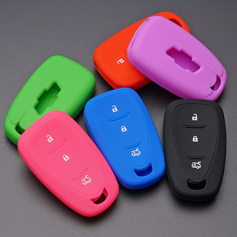 1Pc Silicone Keyless Entry Remote Key Fob Control Case Cover For GMC Chevrolet