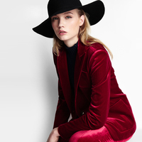 2017 Spring Summer Red Fashion Ladies Suit Slim Fit Office Tailor Made MTM Casual Women S
