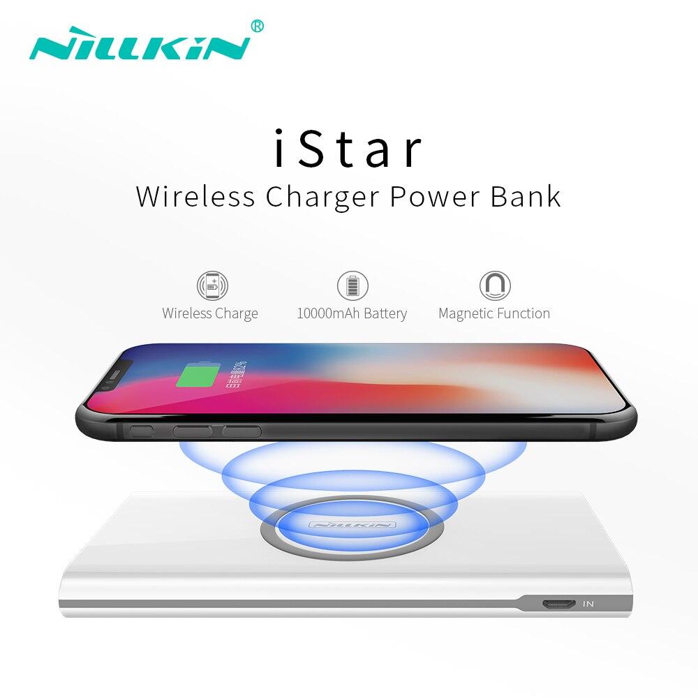 Nillkin QI chargeur sans fil pour iPhone pour Samsung batterie externe sans câble 10000 mAh Portable batterie externe chargeur de téléphone Portable