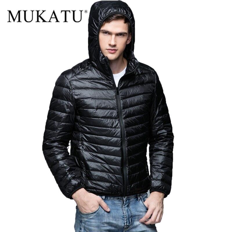 MUKATU пуховики мужские зимние парки плюс Размеры Для мужчин парка Зимняя куртка зимняя с капюшоном пальто белая утка Ultra Light Пух пальто бренд мужской пиджак Повседневное верхняя одежда с капюшоном