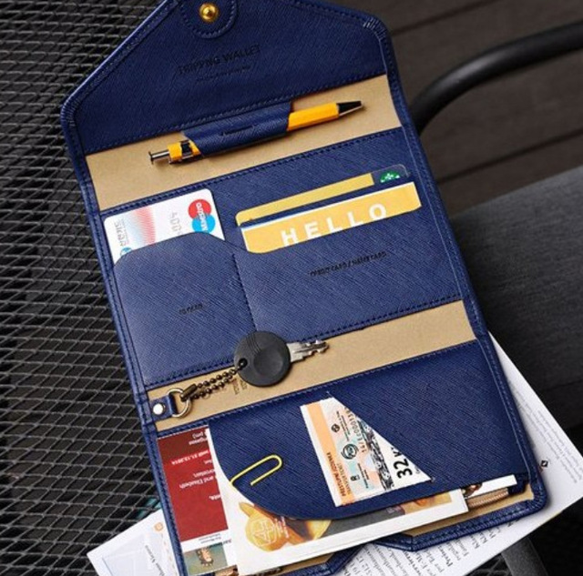 a298f086e45 2016 hot selling Korean Style Passport Wallet Multifunction Credit Card  Package ID Holder Travel Clutch Bag