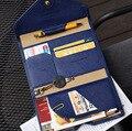 2016 venda quente do Estilo Coreano Pacote de Cartão de Crédito ID Titular bolsa de Viagem Passaporte Carteira Multifuncional Saco de Embreagem para as mulheres e homens