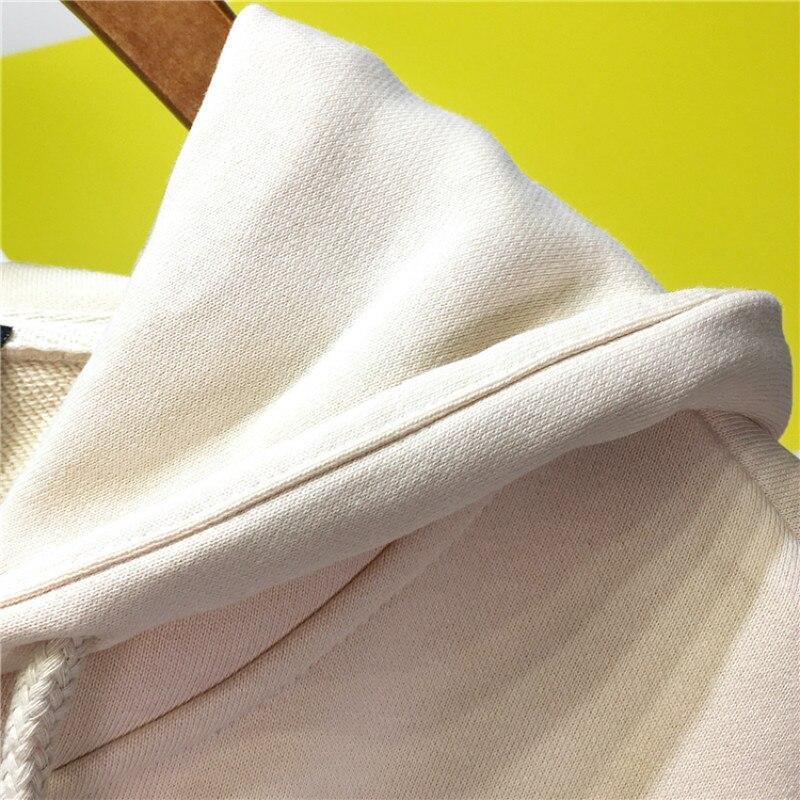 Broderie Survêtements Diamant Chandail 2018 Femmes Beige Automne Sans Chemise Swearshirt La Plus white Capuchon Nouveau À Dame Garde Hauts Longues Manches Taille WqdIWC