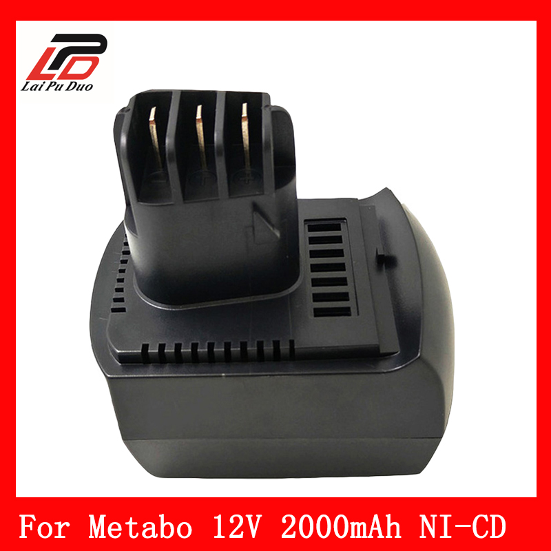Brand NEW 12v 2Ah Ni-cd Replace power tool battery for METABO 6.02151.50 BZ12SP BS 12 SP, BSZ 12, BZ 12 SP, SSP 12, ULA9.6-18