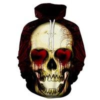 Nova Moda Dos Homens/Mulheres Hoodies 3d Impressão de Metal Crânios Encapuzados vermelho do Amor Hoodies olhos Thin man 3d Camisolas Com Capuz hip hop Topos 6xl