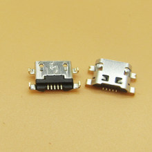 Micro usb 50 pçs/lote para alcatel 7040n, porta de carga doca soquete para lenovo a708t s890 para huawei g7 G7-TL00 carregamento conector