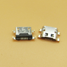 Micro usb 50 pçs/lote para alcatel 7040n, porta de carga doca soquete para lenovo a708t s890 para huawei g7 G7 TL00 carregamento conector
