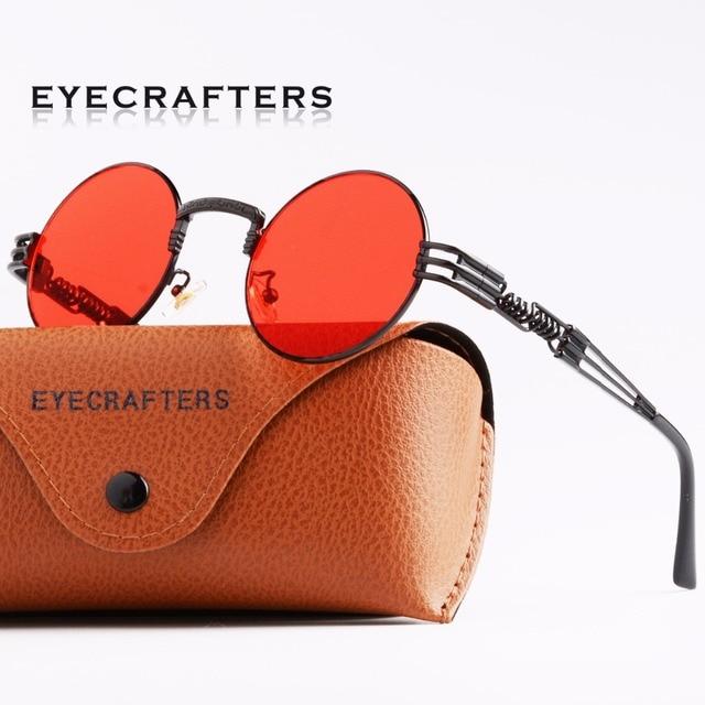 6b233204b5 Fashion John Lennon Round Steampunk Sunglasses Men Women Metal Frame Retro  Vintage Coating Mirrored See-through Eyewear Shades