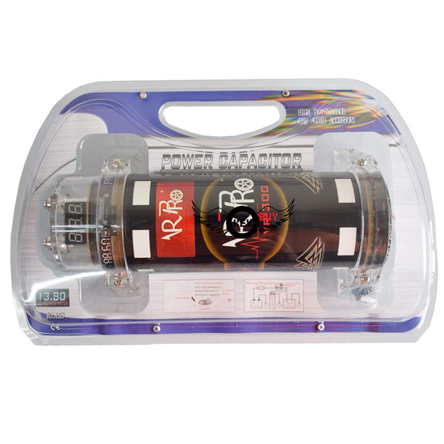I Key Buy 30 Farad Car Capacitor LED Voltage Display Power Hybrid Digital Capacitors Black