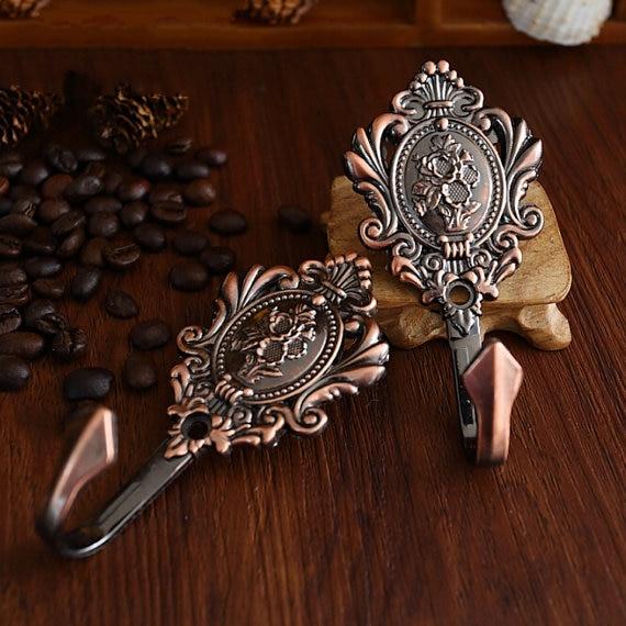 Antique Copper Hook Decorative Hooks Clothes Hanger Metal