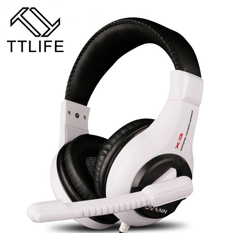 Fashion TTLIFE High Quality Stereo Bass Computer Gaming Headset Headphone Over-ear Earphone With Microphone For Computer Gamer