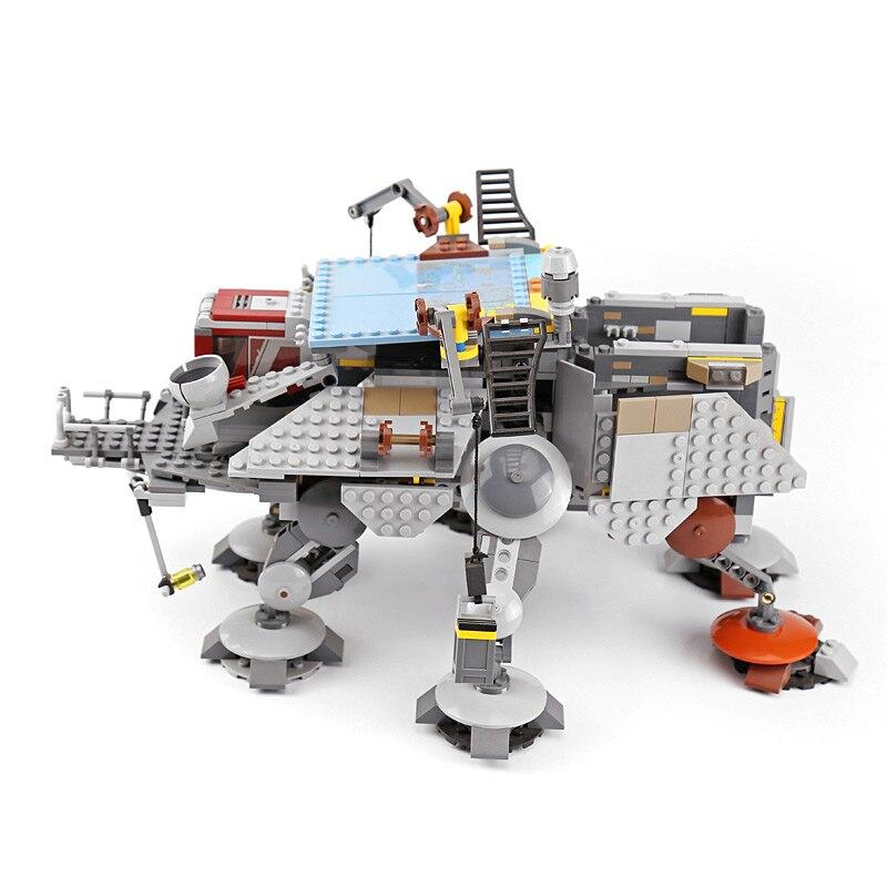 05032 Star plan série Captain Rex's AT TE wars blocs de construction briques garçons jouets cadeaux compatibles avec le 75157-in Blocs from Jeux et loisirs    1