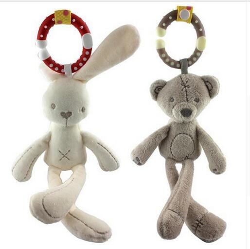 Soft Crib Toys : Cute baby crib stroller toy animal rabbit bunny bear soft