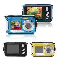 Double Screen HD 1080P 24MP Underwater Waterproof Selfie Digital Video Camera DV LF759 LF761
