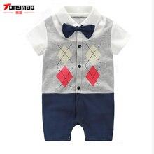 Tongmao/брендовые комбинезоны для новорожденных мальчиков; детская
