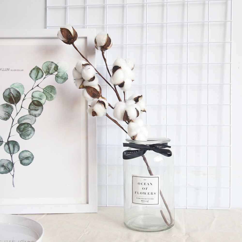 Branche Fleur De Coton fleurs de coton séchées naturellement plantes artificielles
