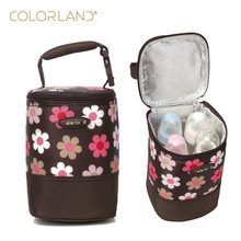 COLORLAND Fashion Baby Handbag Bottle Bag Thermo Bottles Mummy Handbag Baby Bag Insulation Bags Breast Milk Thermal Food Warmer