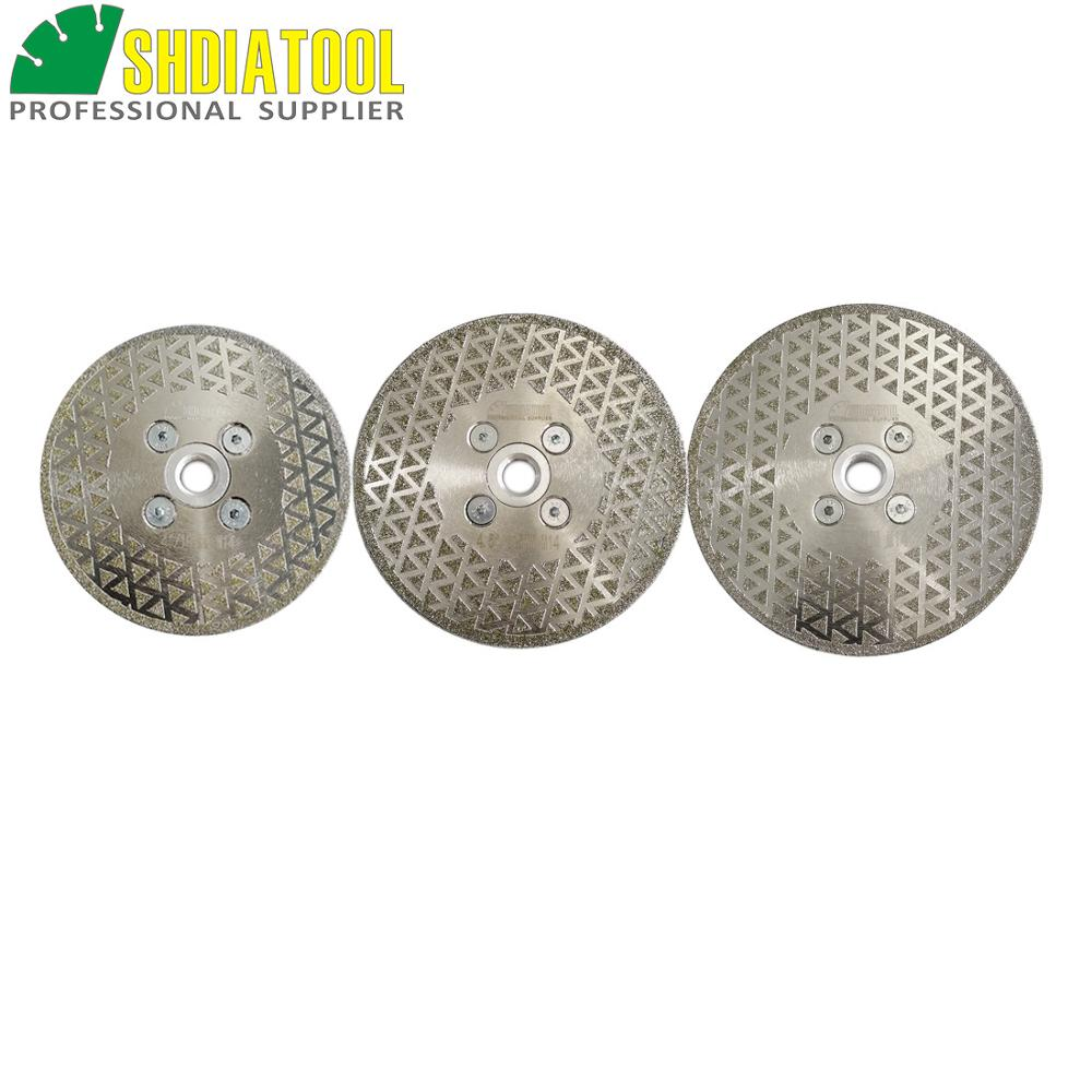 SHDIATOOL 1pc M14 Thread Electroplated Diamond Cutting & Grinding Disc Marble Single Side Coated Blade Stone Diamond Wheel