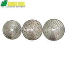 DIATOOL 1pc Electroplated diamond cutting & grinding blade M14 Thread marble Single side coated diamond disc china manufacture supply 4 m14 30 resin filled disc grinding machine