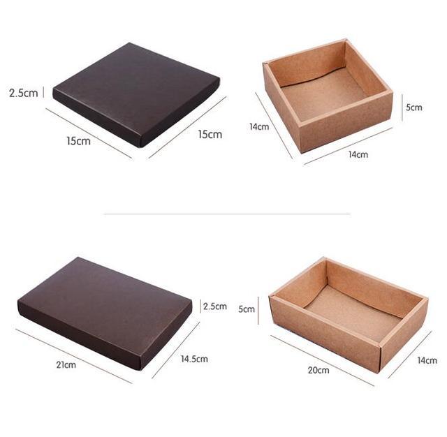 14145 cm scatole Regalo con coperchi, 20 pz Nero carta scatole di ...