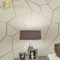 Thick Flocked Modern Geometry Striped Wallpaper For Walls Living Room Sofa TV Background Decor Home 3D