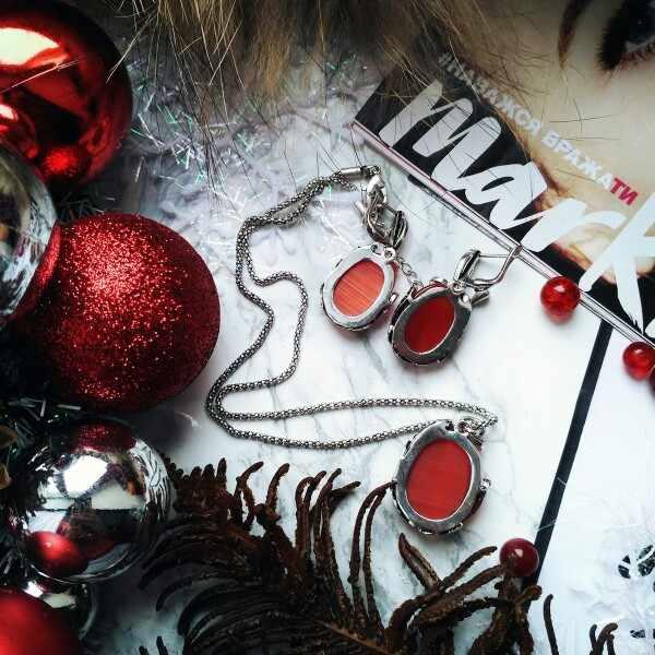 Ajojeel โบราณชุดเครื่องประดับสร้อยคอและต่างหูสีแดงโอปอลเครื่องประดับชุดของขวัญเพื่อนเจ้าสาว