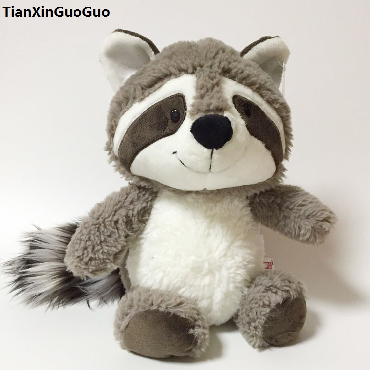Grand 50 cm dessin animé gris raton laveur peluche jouet doux poupée jeter oreiller cadeau d'anniversaire w2117