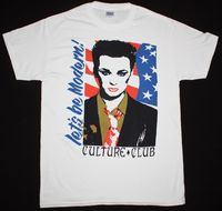 CULTURE CLUB LET S BE MODERN BOY GEORGE NEW WAVE BOW WOW WOW NEW WHITE T