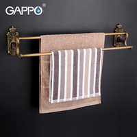 GAPPO 1Set Wall Mounted 60cm Double Towel Bars Antiquities Towel Holder Hooks Restroom Towel Rack Bathroom