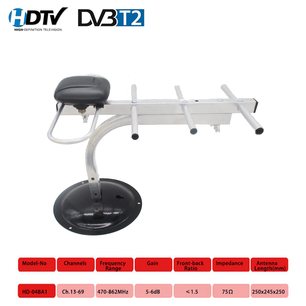 470MHz-862MHz HD Digital TV Antenna For DVB-T2 DVB-T DTMB HDTV ISDB-T ATSC-T ADTB-T High Gain Strong Signal Outdoor TV Antenna