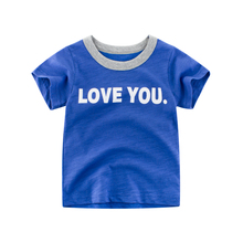 New 100% Cotton Letter Printing Baby Boys T Shirt for Summer Kids Korean Short Sleeve T-Shirts For Girls Tops 2-7years