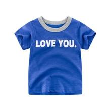 New 100% Cotton Letter Printing Baby Boys T Shirt for Summer Kids Korean Short Sleeve T-Shirts For Boys Girls Tops Kids 2-7years