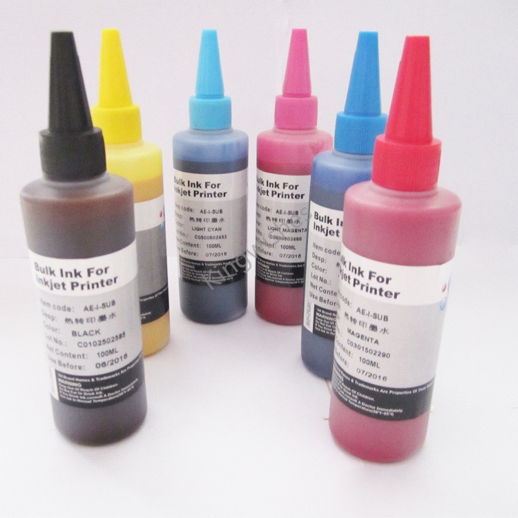 ФОТО Top Quality 6 x 100ML Sublimation Ink For Epson A600 A700 A800 A710 A810 A725 A835 A837 A730