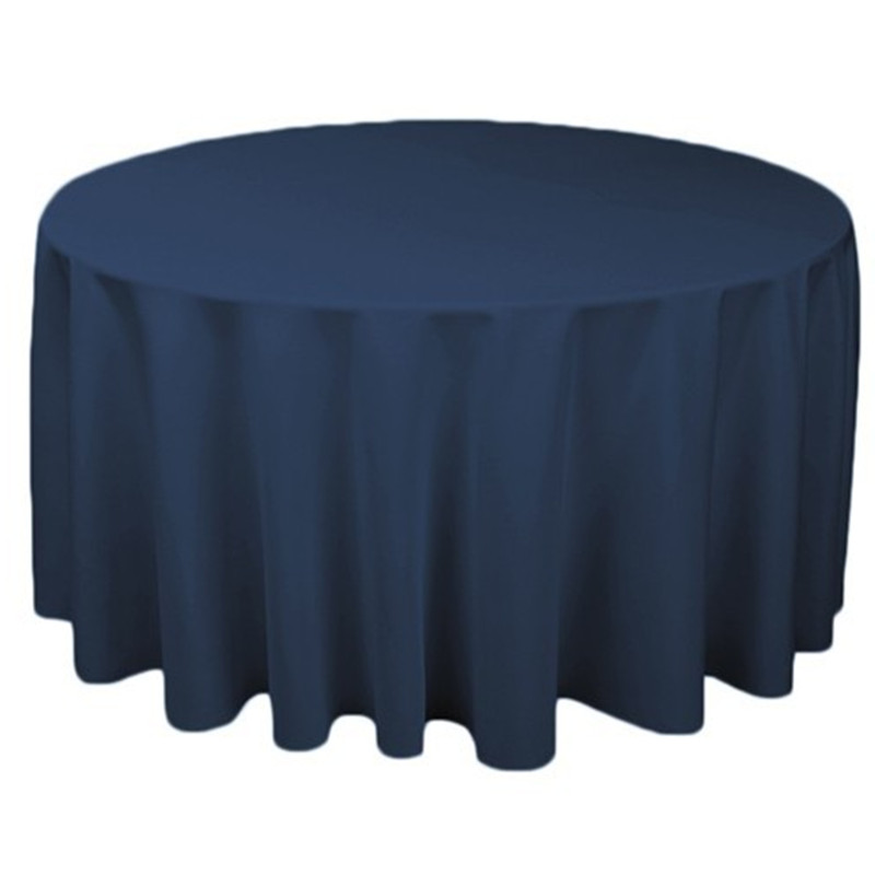 Free Shipping 10pcs Navy Blue Polyester Decorative Table Covers For Wedding  Banquet Hotel Polyester Round Table Cloths Linens In Tablecloths From Home  ...