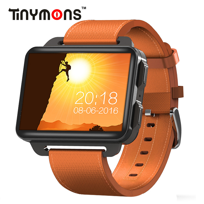 Tinymons DM99 Smart Watch 3G WCDMA Men Women Smartwatch Android 5.1 OS 1GB+16GB Camera Bluetooth Sports Heart Rate Monitor Watch alloyseed dm99 smartwatch android 5 1 2 2in 1gb 16gb quad core heart rate 3g calling wifi bluetooth gps 1 3mp camera smart watch