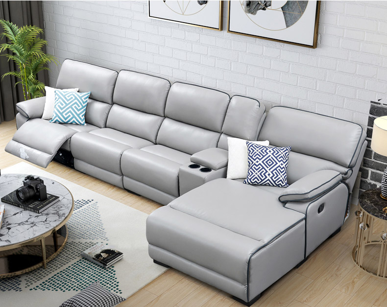 Living Room Sofa set L corner sofa recliner manual couch real genuine  leather sectional sofas muebles de sala moveis para casa