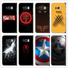 Marvel Superheroes Batman SpiderMan Iron man Deadpool phone Cover Case For  Samsung Galaxy S8 S9 PLUS NOTE 5 7 8 9 Fundas Coque