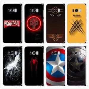 581ea4e06a4 Case For Samsung Galaxy S8 S9 PLUS NOTE 5 7 8 9 Coque Fundas Marvel  Superheroes Batman
