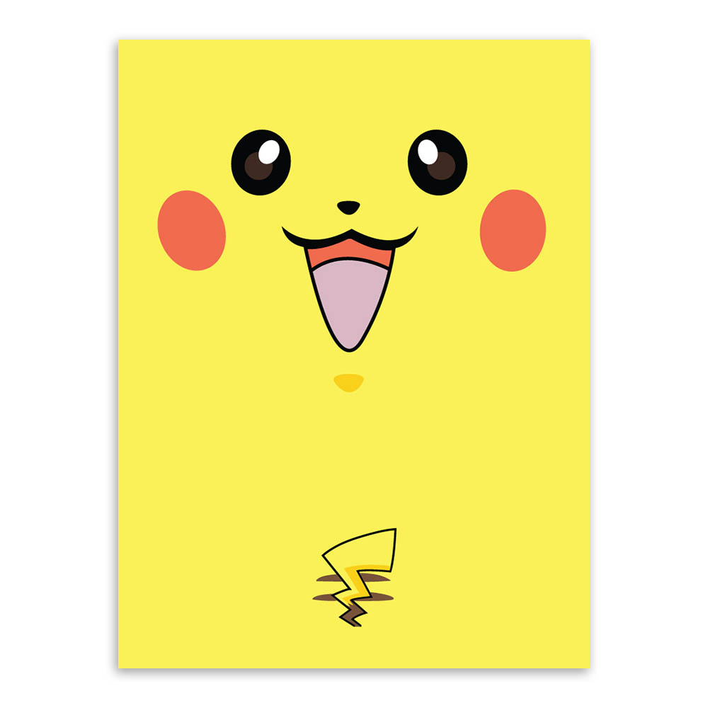 Nordic Cartoon Cute Pokemon Pikachu Squirtle Animal Art Print Poster Kanvas Lukis 30x40 Cm Wall Picture Canvas Oil Painting Home Decor Kids Frameless In Calligraphy